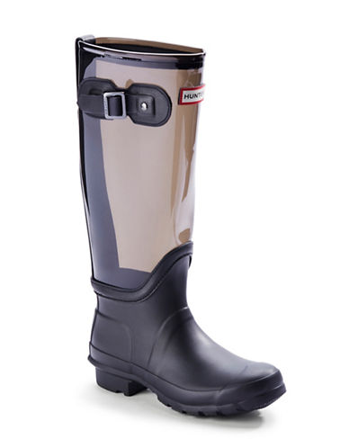 HUNTER Tall Clear Leg Rain Boots