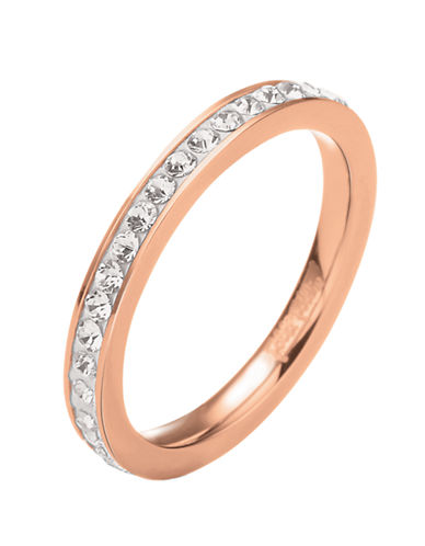 FOLLI FOLLIE Match & Dazzle Rose Gold-Plated Crystal Ring