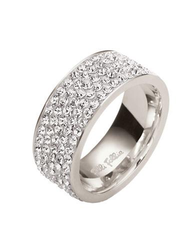 FOLLI FOLLIEMatch & Dazzle Silver-Plated Crystal Ring