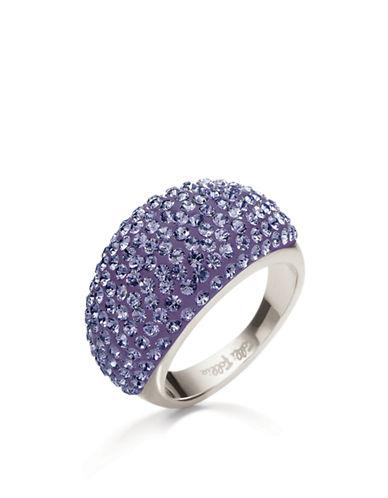 FOLLI FOLLIEMatch and Dazzle Purple Crystal Ring