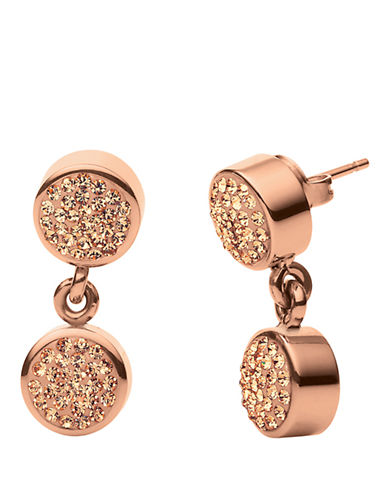 FOLLI FOLLIE Bling Chic Rose Gold-Plated Drop Earrings