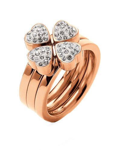 FOLLI FOLLIERose Gold-Plated Heart4Heart Ring