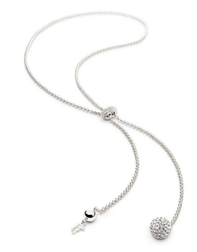 FOLLI FOLLIEBling Chic Sterling Silverplate and Crystal Pendant Necklace