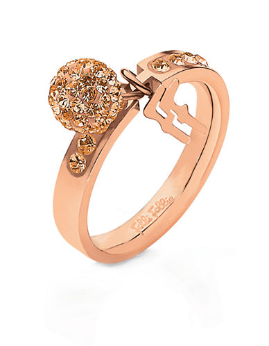 FOLLI FOLLIERose Gold-Plated And Crystal Bling Chic Ring
