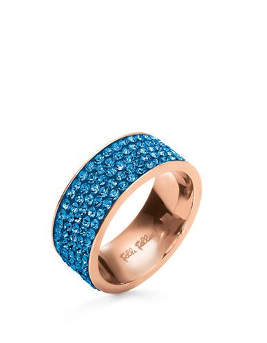 FOLLI FOLLIEMatch And Dazzle Blue Crystal Ring