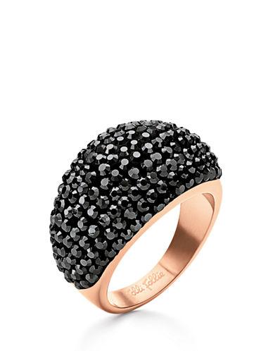 FOLLI FOLLIEMatch And Dazzle Black Crystal Ring
