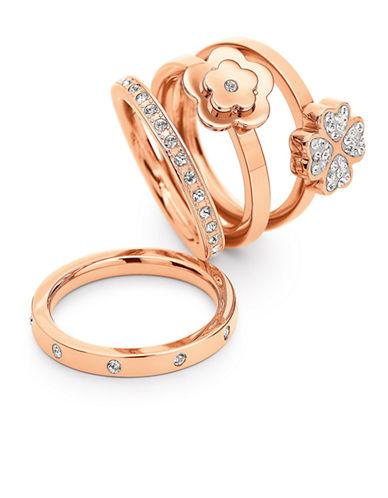 FOLLI FOLLIERose Gold-Plated Bonding Ring Set