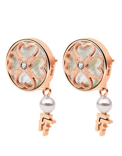 FOLLI FOLLIEHeart4Heart Rose Gold-Plated Clover Earrings