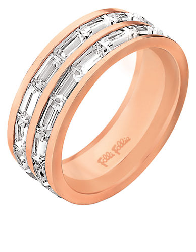 FOLLI FOLLIEClassy Rose Gold-Plated and Crystal Ring