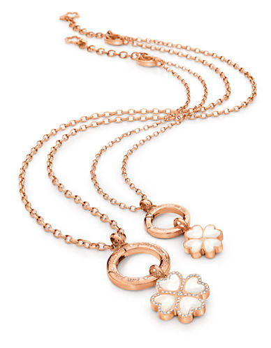 FOLLI FOLLIE Folli Di Fiori Rose Gold-Plated and Crystal Necklace Set