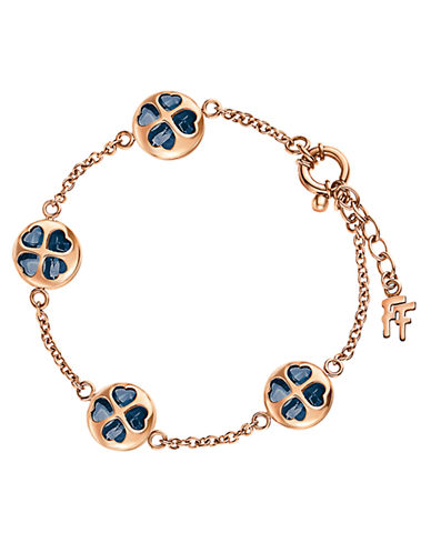 FOLLI FOLLIE Heart4Heart Rose Gold-Plated Win Bracelet