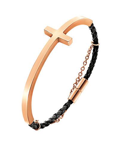 FOLLI FOLLIECarma Rose Gold-Plated And Leather Bracelet