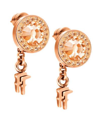 FOLLI FOLLIEClassy Rose Gold-Plated Earrings