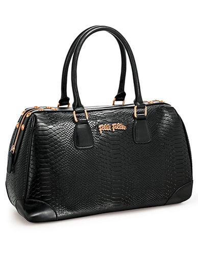 FOLLI FOLLIE K Chic Reflections Embossed Bowler Bag