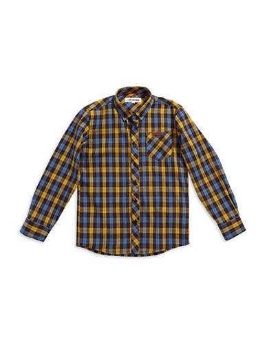 BEN SHERMANBoys 8-20 Plaid Dress Shirt