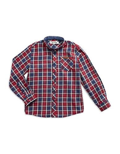 BEN SHERMANBoys 8-20 Plaid Sport Shirt