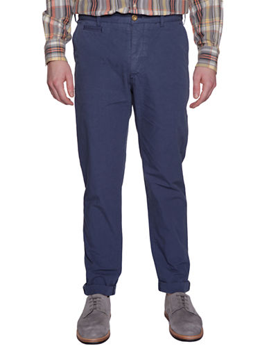 BEN SHERMAN Slim-Fit Blue Chino Pants