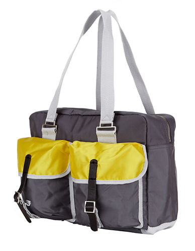 BEN SHERMANNylon Colorblock Cargo Weekender Bag