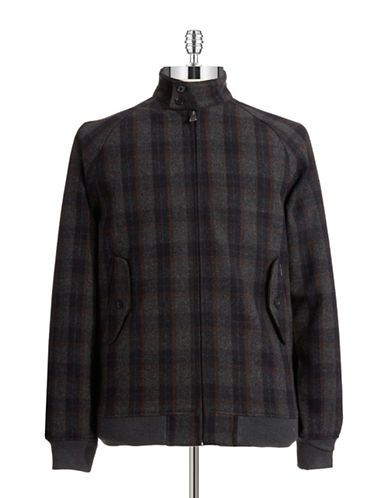 BEN SHERMAN Plaid Car Coat