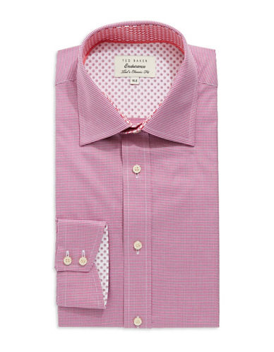 TED BAKER Slim Fit Checkered Dress Shirt