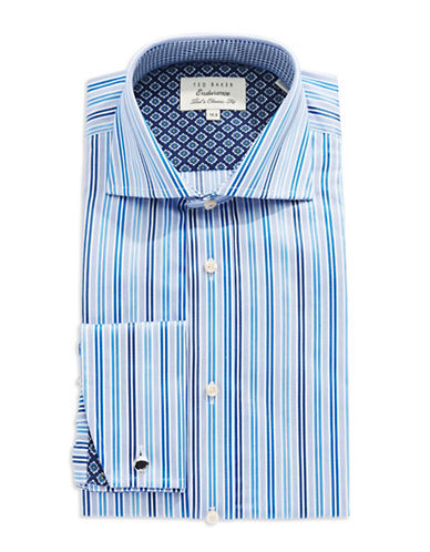 TED BAKER Classic Fit Striped Dress Shirt