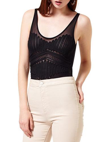 miss selfridge female 188971 mesh sleeveless bodysuit