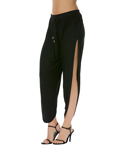 49a22e4108 ... Solid Draped Swimsuit Cover Up Pants UPC 053474639917 product image for  Laundry By Shelli Segal Side Slit Harem Pants | upcitemdb.