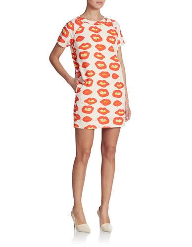 Shop Essentiel online and buy Essentiel Lips Cotton Silk Shift Dress dress online