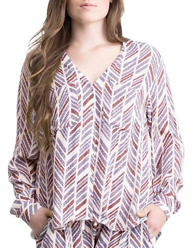 Plus Lesath Herringbone Shirt plus size,  plus size fashion plus size appare