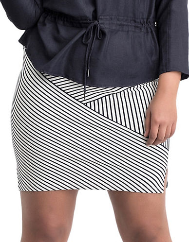 Misam Striped Bodycon Skirt plus size,  plus size fashion plus size appare