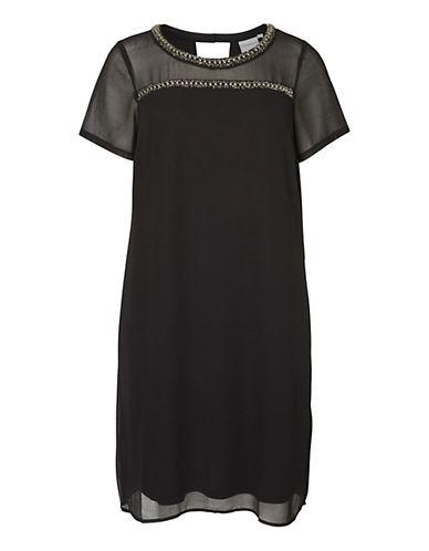 Junarose Plus Beaded Chiffon-Trimmed Dress