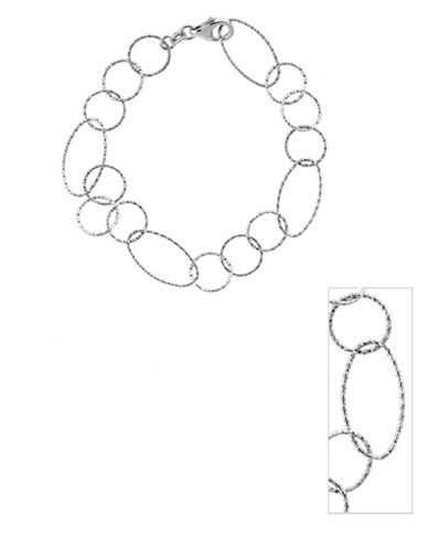 LORD & TAYLORSterling Silver Diamond-Cut Link Bracelet