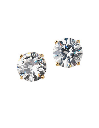 LORD & TAYLOR18 Kt Gold Plated Round Stud Earrings
