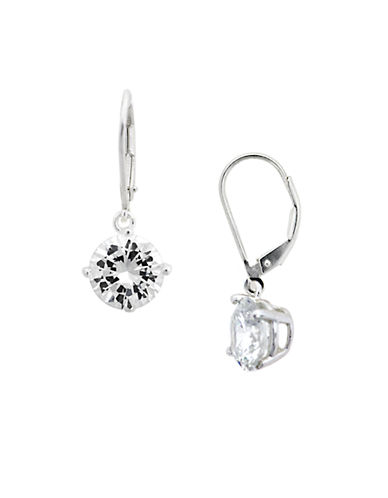 LORD & TAYLOR Round Cubic Zirconia Drop Earrings