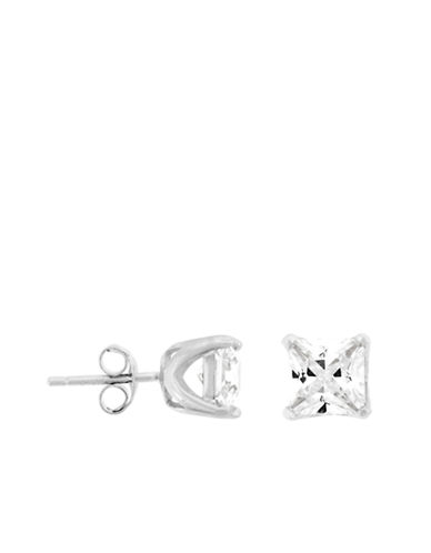 LORD & TAYLORPlatinum Finished-Sterling Silver Cubic Zirconia Stud Earrings