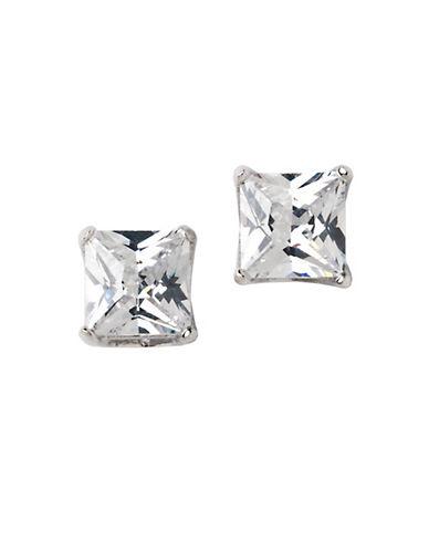 LORD & TAYLORPlatinum-Plated Princess-Cut Stud Earrings