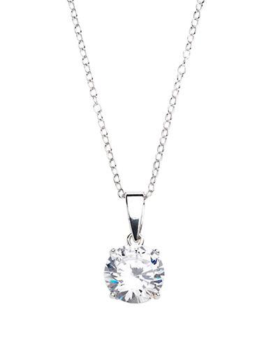 LORD & TAYLOR3D Circular Platinum Plated Pendant Necklace