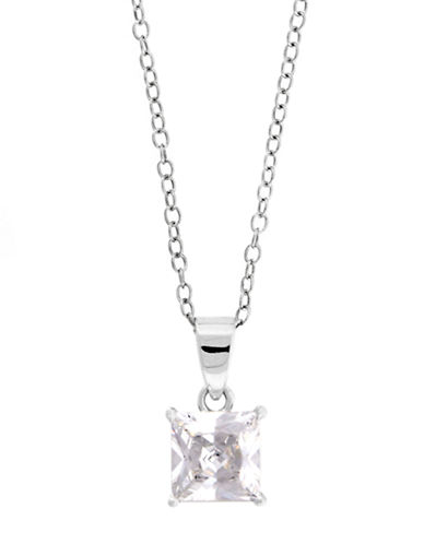 LORD & TAYLORSterling Silver Necklace with Princess-Cut Cubic Zirconia Stone
