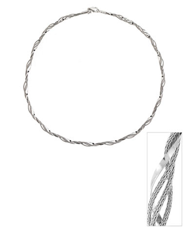 LORD & TAYLORRhodium Plated-Sterling Silver Twist Necklace