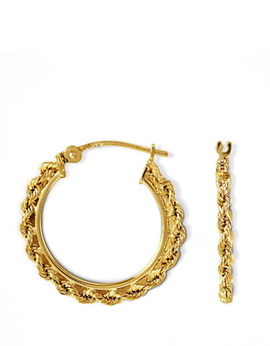LORD & TAYLOR14 Kt. Gold Small Braided Hoop Earrings