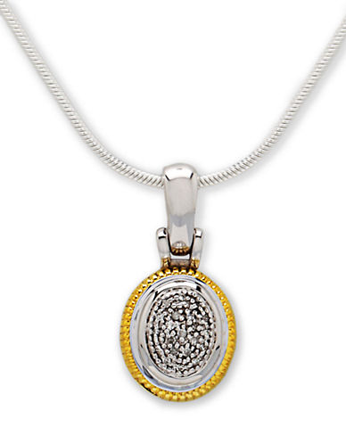 LORD & TAYLORSterling Silver and 14 Kt. Yellow Gold Necklace with Diamond Accents