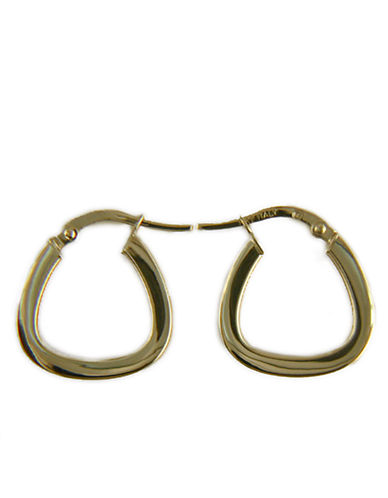 LORD & TAYLORPolished Hoop Earrings in 14 Kt. White Gold
