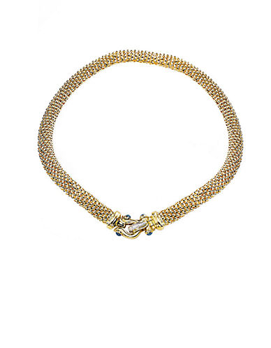 LORD & TAYLORSapphire and Diamond Closure 14 Kt. Gold Necklace