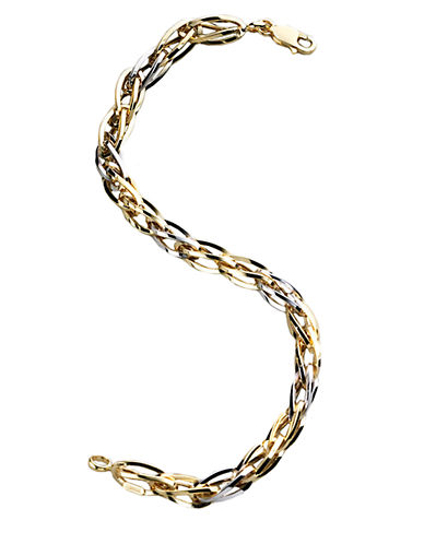 LORD & TAYLORMens 14K Two Tone Gold Bracelet