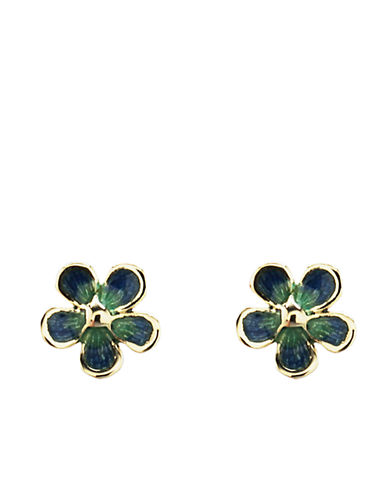 14 Kt. Yellow Gold Flower Stud Earrings