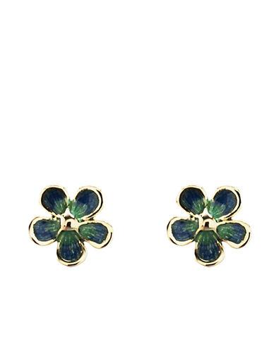 14 Kt. Yellow Gold Flower Stud Earrings