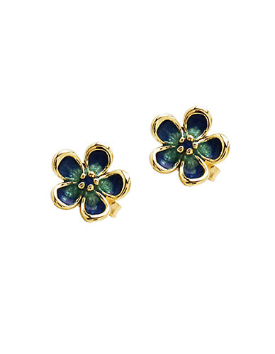 LORD & TAYLOR 14K Yellow Gold Flower Stud Earrings