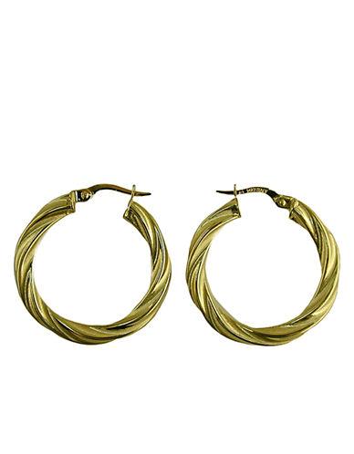 LORD & TAYLOR14 Kt. Yellow Gold Twist Hoop Earrings