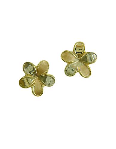 LORD & TAYLORFlower Stud Earrings in 14 Kt. Tri Tone Gold