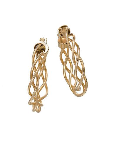 LORD & TAYLORBraided Hoop Earrings in 14 Kt Yellow Gold
